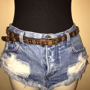 Belt   Brown with Cutout Details